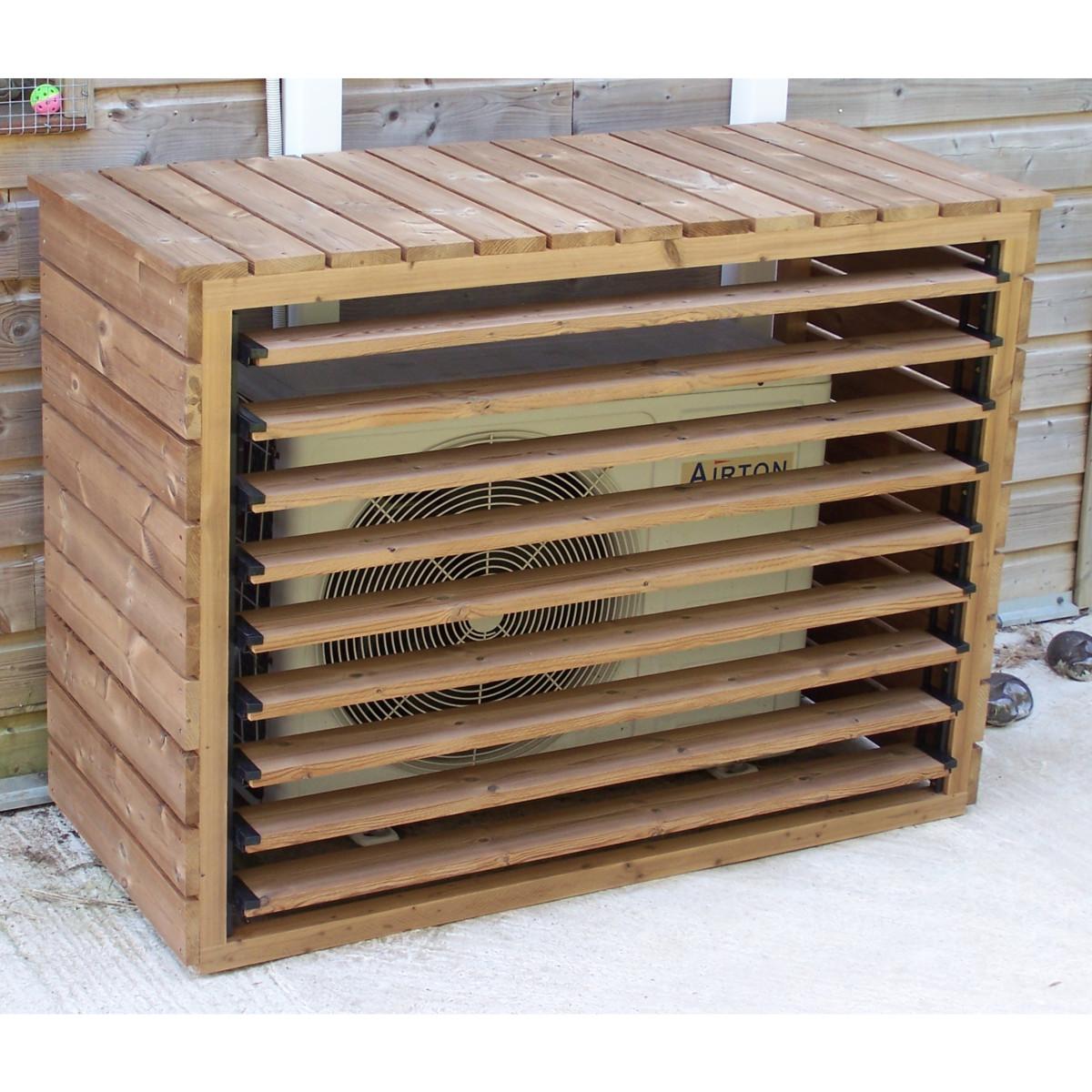 Cache Unité Extérieure Climatisation cache clim en bois